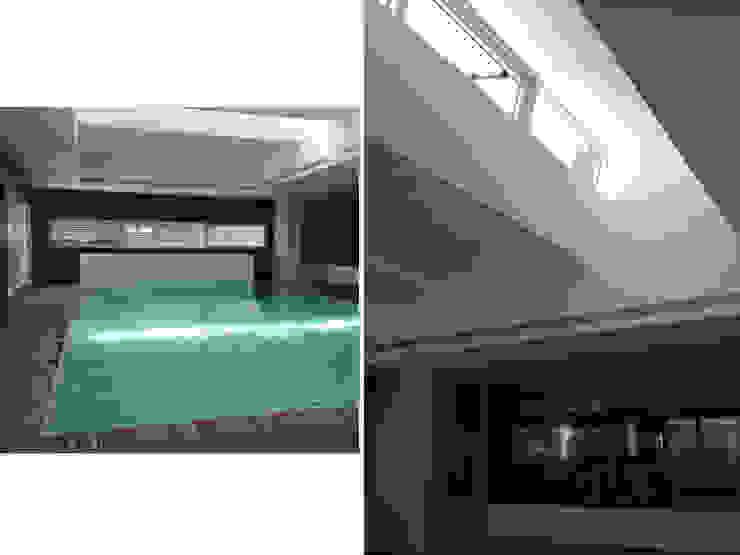 Habitação Unifamiliar Piscinas modernas por AMVC - Arquitectos Associados Moderno