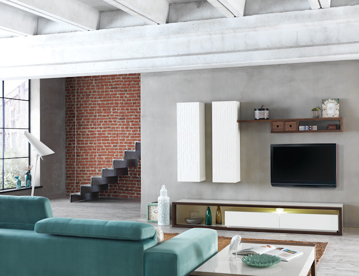 NILL'S FURNITURE DESIGN – Bade TV Ünitesi: modern tarz , Modern