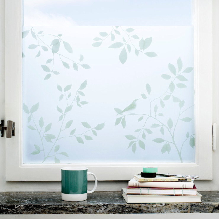 Birds in Tree BY MAY/ Siluett Frost Window Film Finestre & PorteDecorazioni per finestre