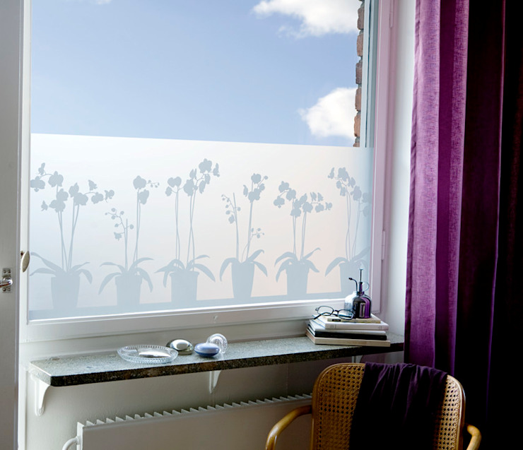 в современный. Автор – BY MAY/ Siluett Frost Window Film, Модерн