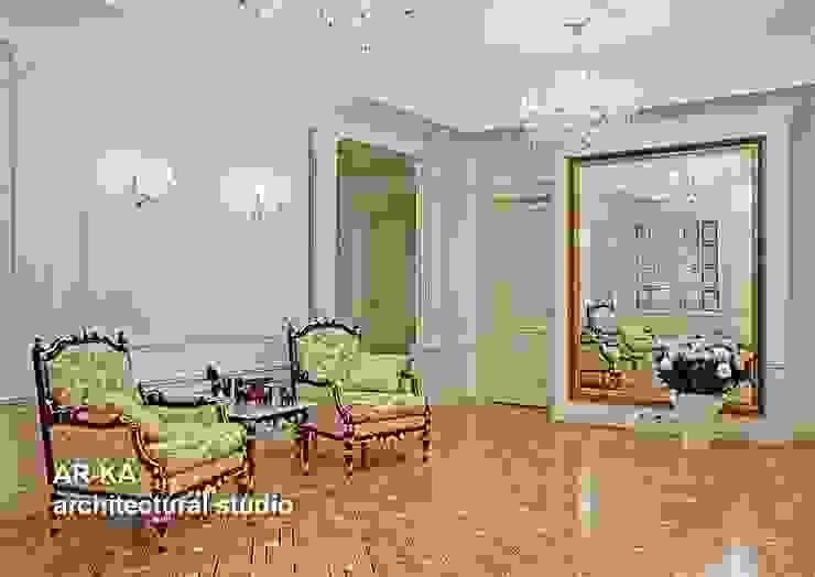 Принцип семейного совета Коридор, прихожая и лестница в классическом стиле от AR-KA architectural studio Классический