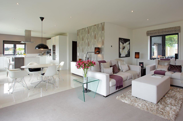 New build Hampshire UK Modern living room by At No 19 Modern