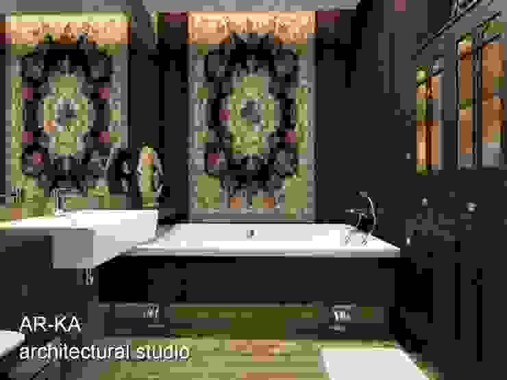 Супер – МИНИ с хорошим вкусом Ванная комната в скандинавском стиле от AR-KA architectural studio Скандинавский