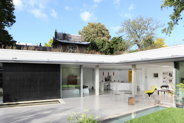E2 PAVILION ECO HOUSE, BLACKHEATH Casas modernas: Ideas, diseños y decoración de E2 Architecture + Interiors Moderno