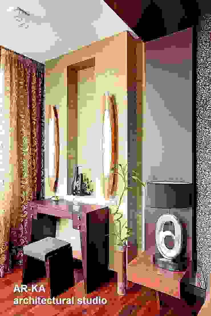 Жизнь в ШОКОЛАДЕ Спальня в стиле модерн от AR-KA architectural studio Модерн