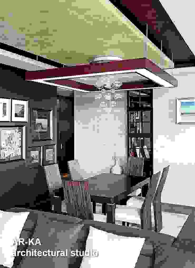 Жизнь в ШОКОЛАДЕ Столовая комната в стиле модерн от AR-KA architectural studio Модерн