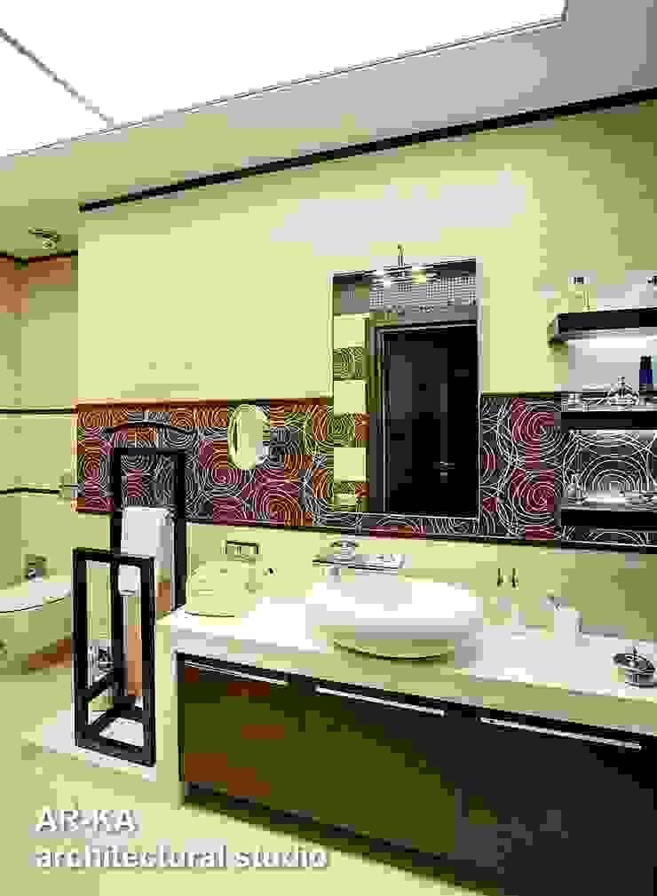 Жизнь в ШОКОЛАДЕ Ванная комната в стиле модерн от AR-KA architectural studio Модерн
