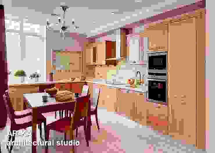 Квартира для подарков Кухня в стиле модерн от AR-KA architectural studio Модерн