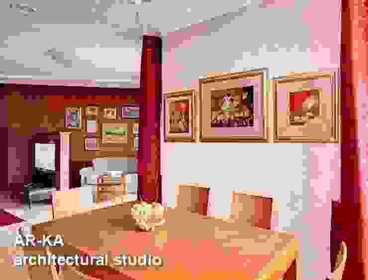 Квартира для подарков Столовая комната в стиле модерн от AR-KA architectural studio Модерн
