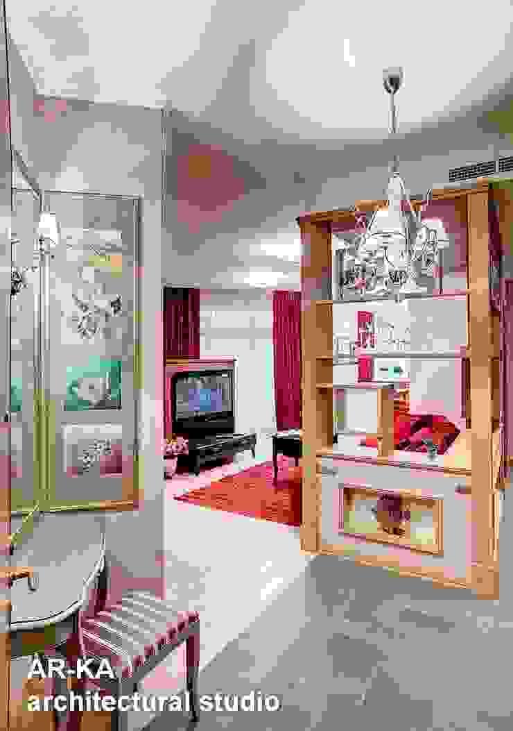 Квартира для подарков Коридор, прихожая и лестница в модерн стиле от AR-KA architectural studio Модерн