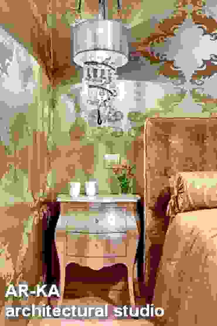 Квартира для подарков Спальня в эклектичном стиле от AR-KA architectural studio Эклектичный