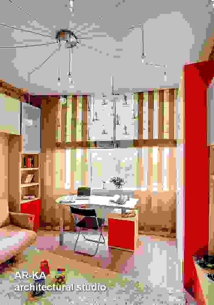Квартира для подарков Детская комната в стиле модерн от AR-KA architectural studio Модерн