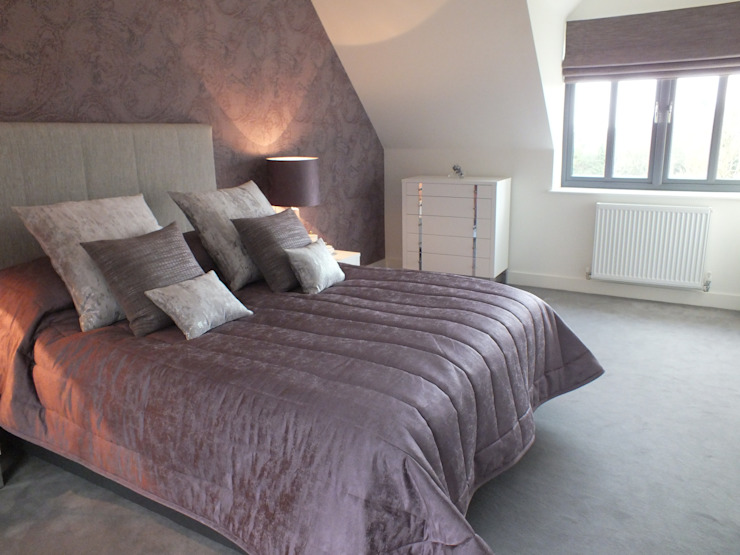 New build Hampshire UK Modern style bedroom by At No 19 Modern