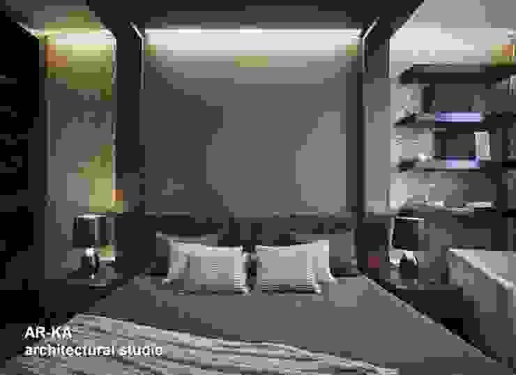 Все сложное - ПРОСТО Спальня в стиле модерн от AR-KA architectural studio Модерн