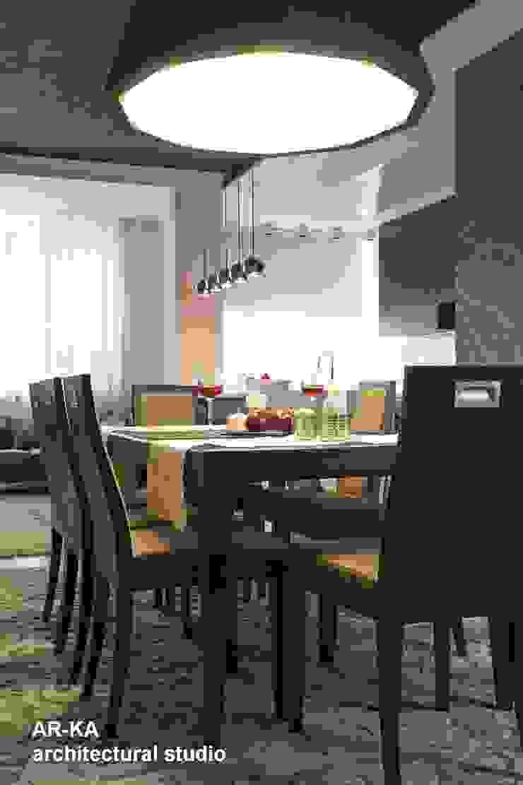 Все сложное - ПРОСТО Столовая комната в стиле модерн от AR-KA architectural studio Модерн