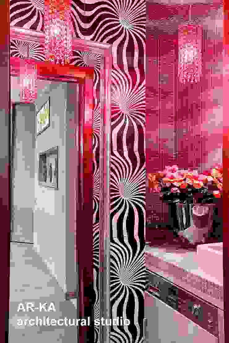 Квартира для подарков Ванная комната в эклектичном стиле от AR-KA architectural studio Эклектичный