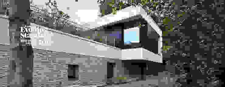 E2 PAVILION ECO HOUSE, BLACKHEATH Case moderne di E2 Architecture + Interiors Moderno