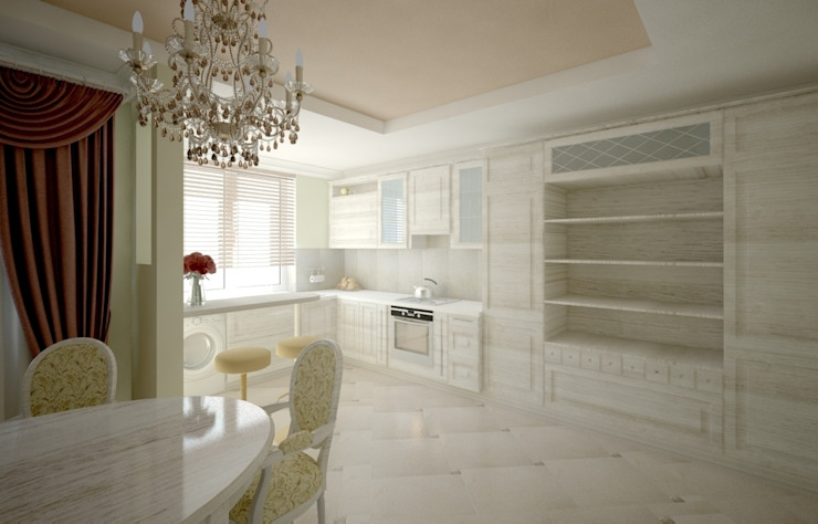 Дизайн проект квартиры. Кухня в классическом стиле от Андреева Валентина Классический