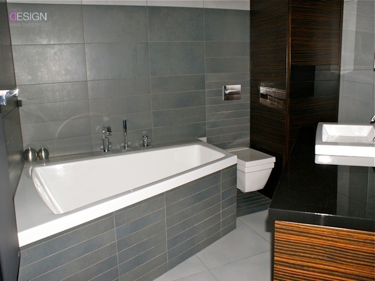 Projekt Gliwice Minimalistyczna łazienka od kabeDesign kasia białobłocka Minimalistyczny