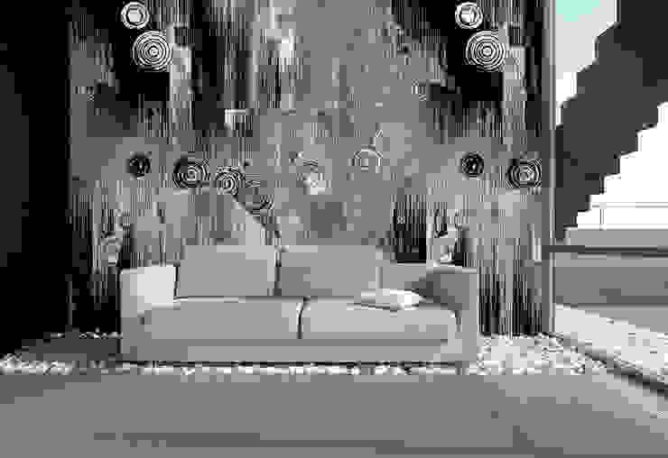 Kreisschwebe grau schwarz: modern  von Mowade,Modern
