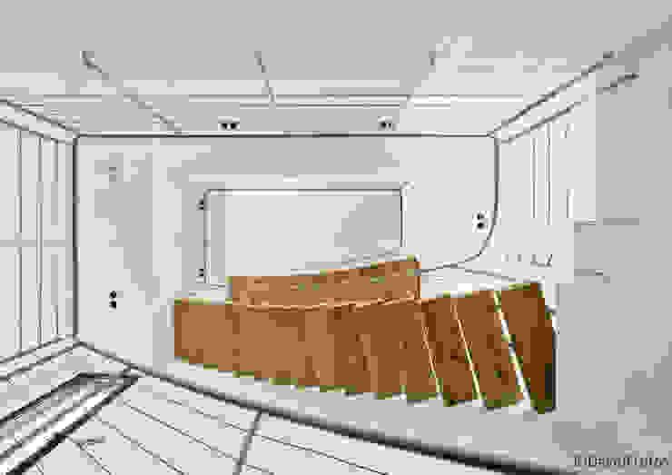 Casa Cabo Pasillos, vestíbulos y escaleras de estilo moderno de Martin del Guayo Moderno