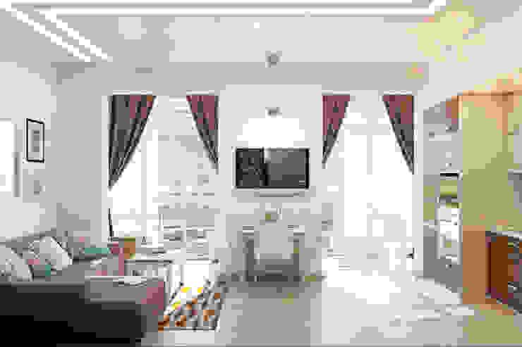 Уютная гостиная в современном стиле Столовая комната в стиле модерн от Студия дизайна Interior Design IDEAS Модерн