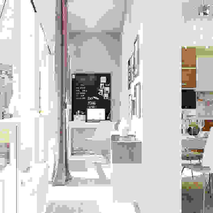 Уютная гостиная в современном стиле: Рабочие кабинеты в . Автор – Студия дизайна Interior Design IDEAS,