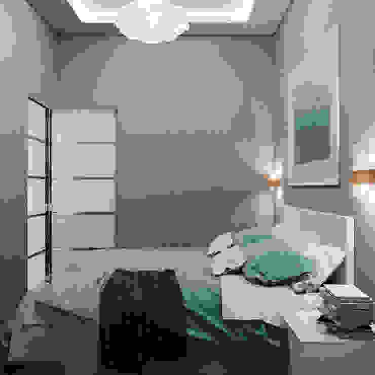 Миниатюрная спальня с максимумом комфорта Спальня в стиле модерн от Студия дизайна Interior Design IDEAS Модерн