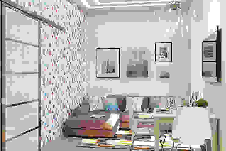 Уютная гостиная в современном стиле Гостиная в стиле модерн от Студия дизайна Interior Design IDEAS Модерн