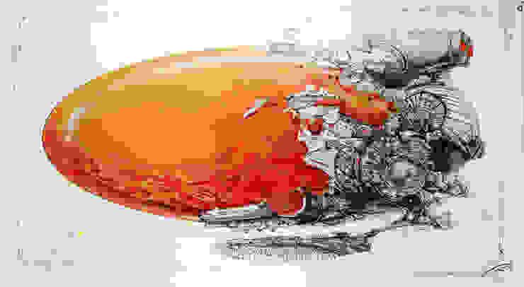 Flying machine 10 od Filip Kurzewski Nowoczesny