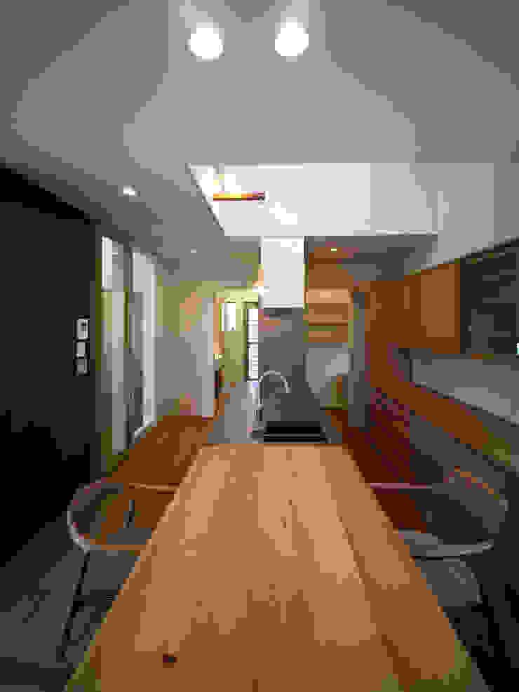 雑木林の家 モダンデザインの ダイニング の 鶴巻デザイン室 モダン
