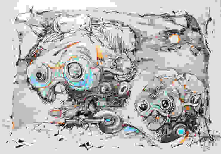 World of another Tomorrow 17 od Filip Kurzewski Nowoczesny
