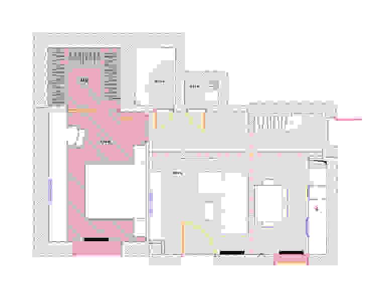 План квартиры после перепланировки:  в современный. Автор – Архитектурно-дизайнерское бюро Натальи Медведевой 'APRIORI design', Модерн
