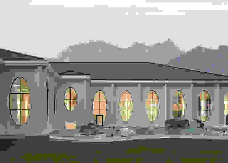 Outside view with existing pool Klassische Veranstaltungsorte von Smolenicky & Partner Architektur GmbH Klassisch