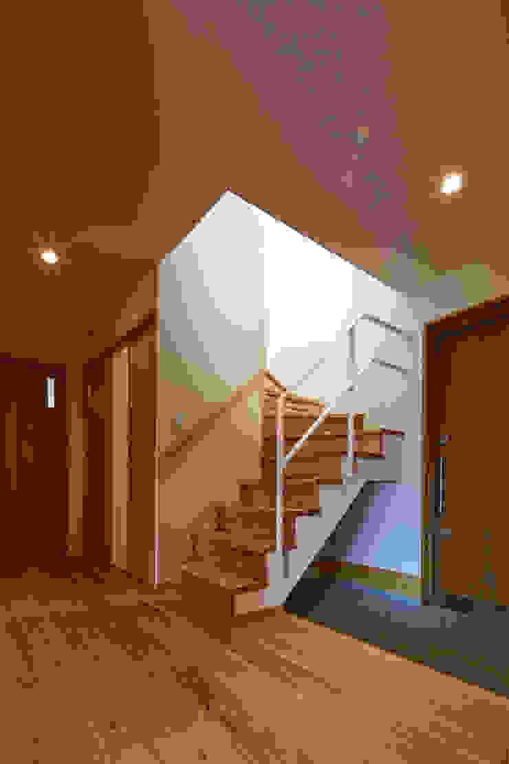 古枝の家 モダンスタイルの 玄関&廊下&階段 の 鶴巻デザイン室 モダン