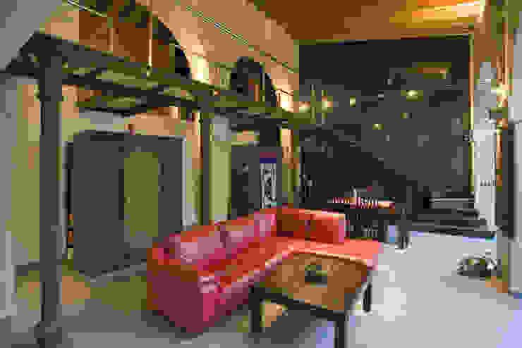 Salón-comedor pxq arquitectos Salones de estilo ecléctico