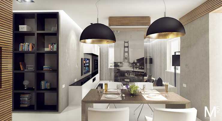 Интерьер гостинной Гостиная в стиле минимализм от M5 studio Минимализм