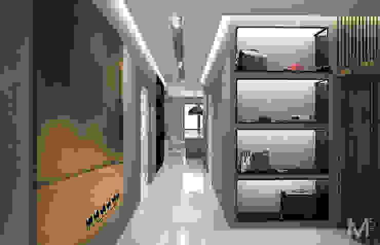 WOOD project Коридор, прихожая и лестница в стиле минимализм от M5 studio Минимализм