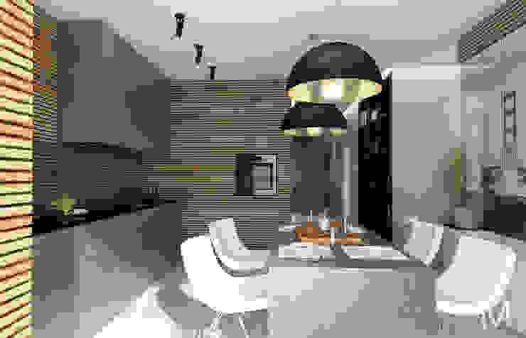 WOOD project Кухня в стиле минимализм от M5 studio Минимализм