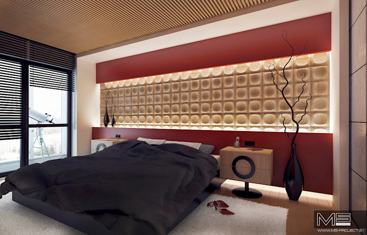 WOOD project Спальня в средиземноморском стиле от M5 studio Средиземноморский