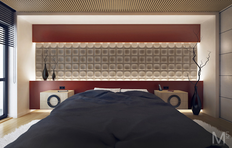 WOOD project Спальня в скандинавском стиле от M5 studio Скандинавский