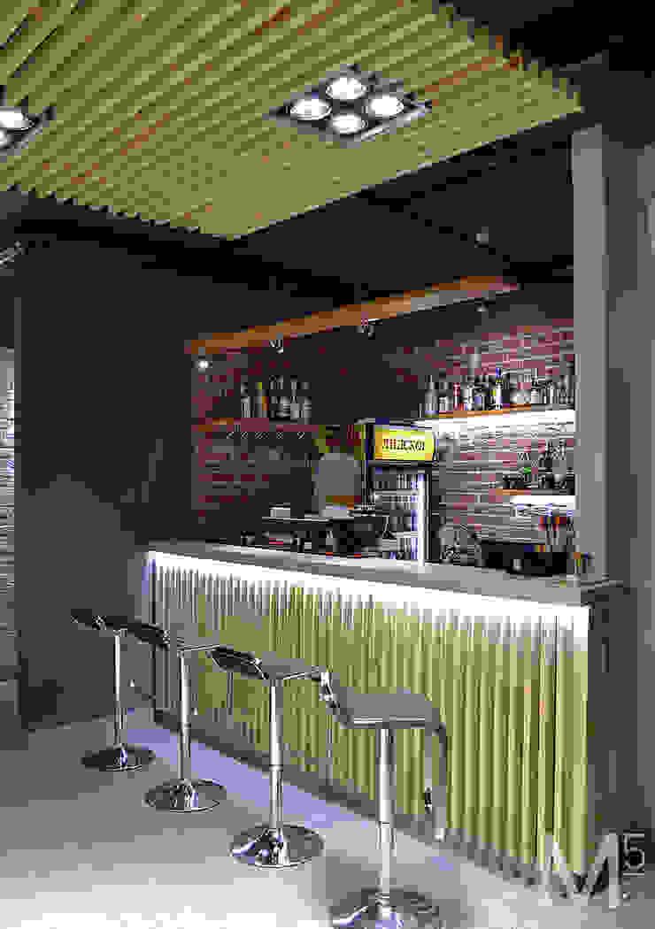 Интерьер пиццерии #buongiorno Бары и клубы в стиле минимализм от M5 studio Минимализм