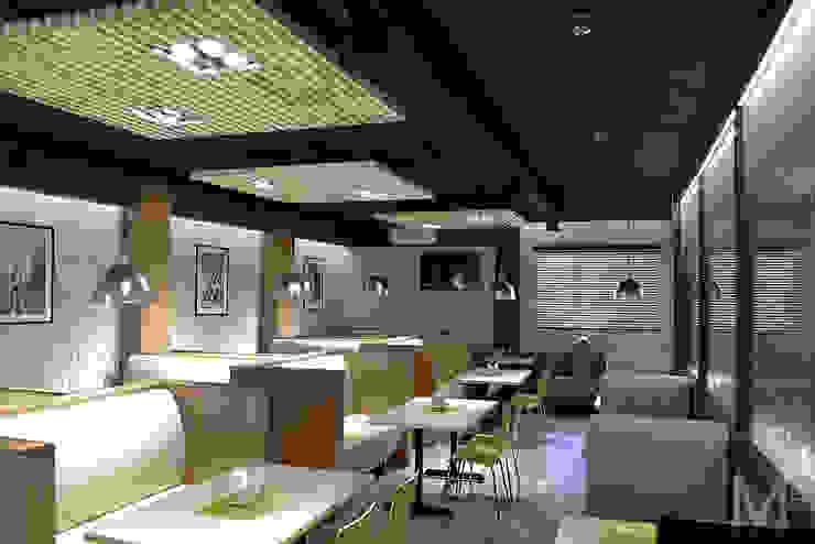 Интерьер пиццерии #buongiorno Бары и клубы в стиле лофт от M5 studio Лофт