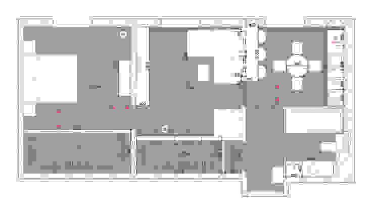 План после перепланировки от Архитектурно-дизайнерское бюро Натальи Медведевой 'APRIORI design' Минимализм