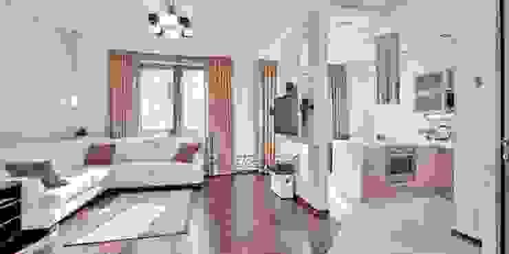 общий вид квартиры-студии от Архитектурно-дизайнерское бюро Натальи Медведевой 'APRIORI design' Минимализм