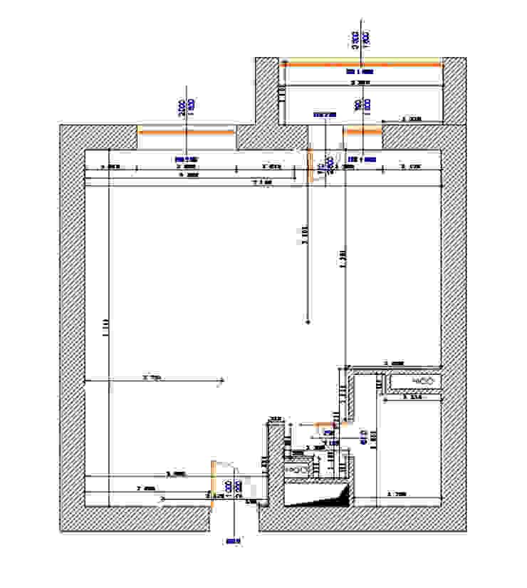 план квартиры до перепланировки от Архитектурно-дизайнерское бюро Натальи Медведевой 'APRIORI design' Минимализм