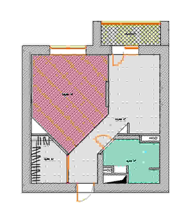план квартиры после перепланировки от Архитектурно-дизайнерское бюро Натальи Медведевой 'APRIORI design' Минимализм