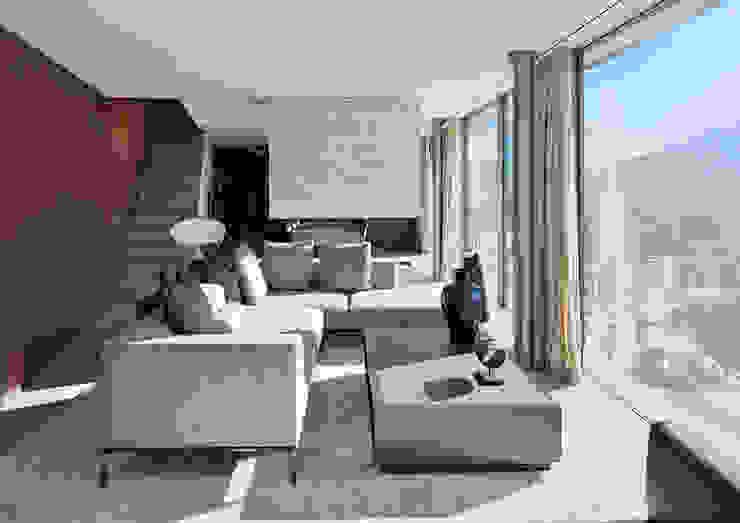 Villa im Engadin Moderne Wohnzimmer von steigerconcept ag Modern