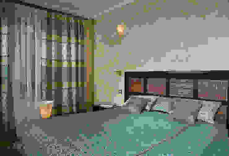"""<q class=""""-first"""">Скандинавия</q> Спальня в эклектичном стиле от дизайн-группа 'Лестница' Эклектичный"""