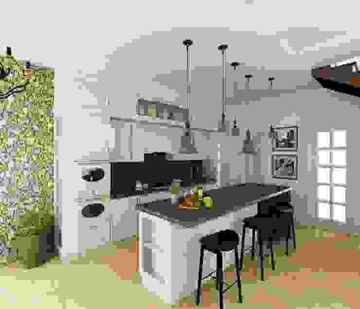 Кухня/гостиная в частном доме Кухни в эклектичном стиле от Eclectic DesignStudio Эклектичный